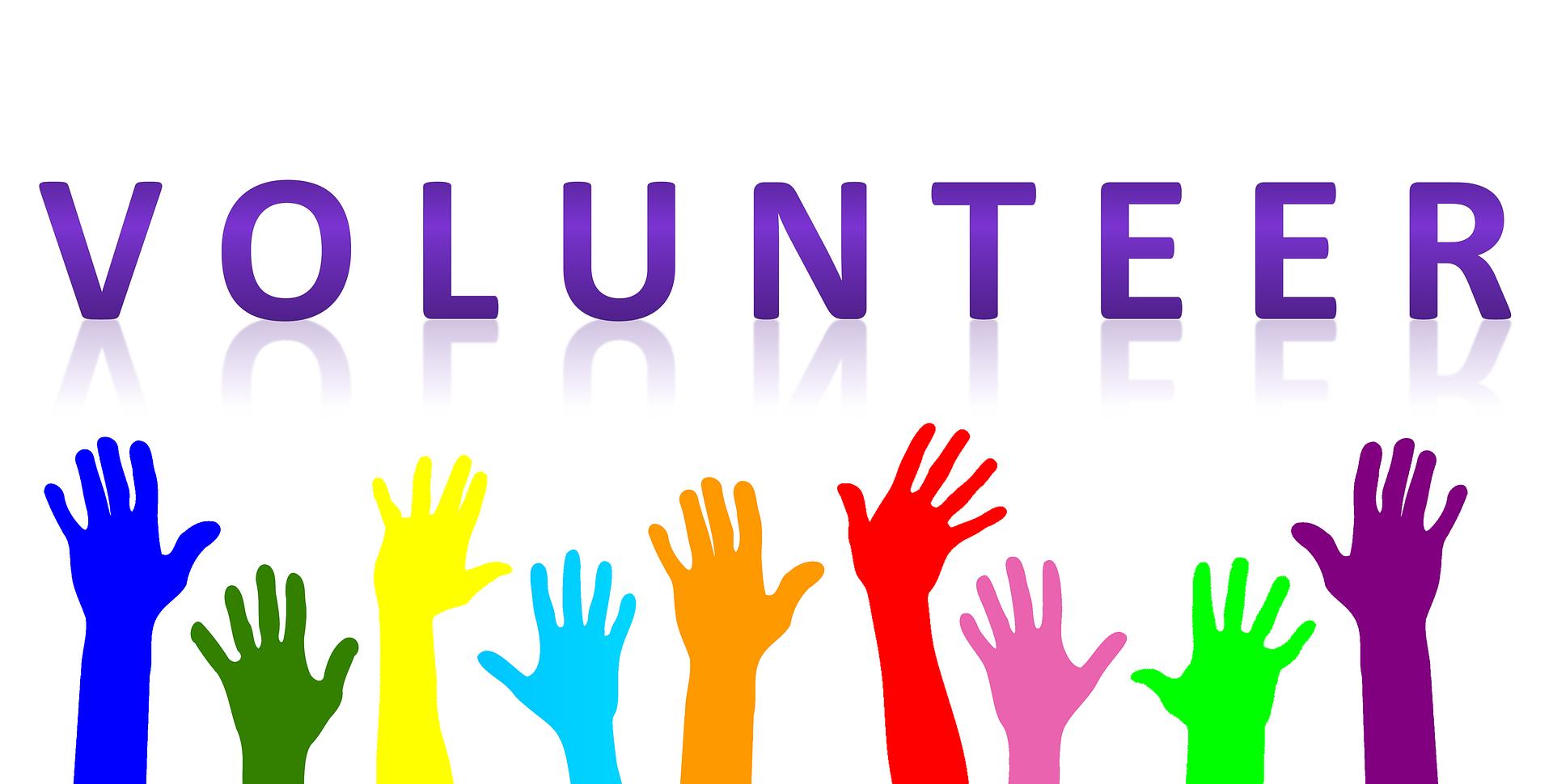 The logo for volunteering hands